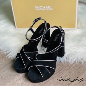 NWT Michael Kors Lexie Suede Platform Sandal